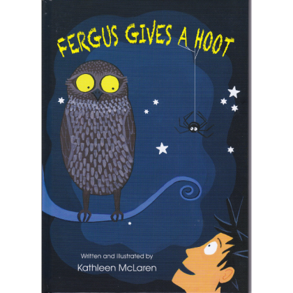 Fergus Gives A Hoot book - front cover